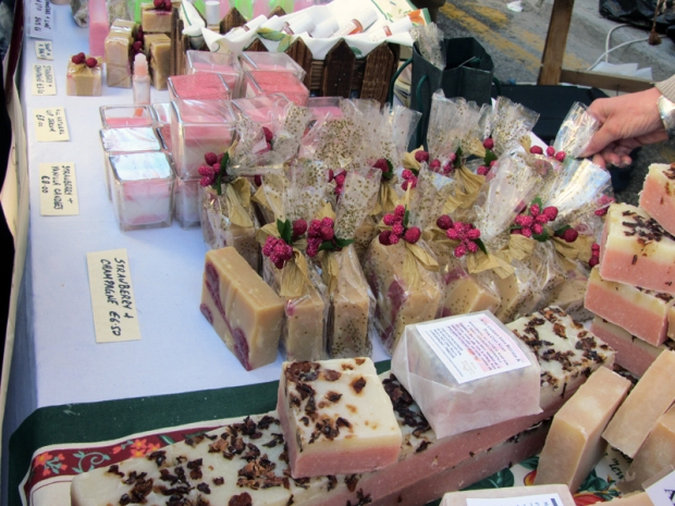 Strawberry soaps and candles